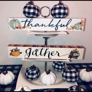 Farmhouse, Rae Dunn Fall Thankful Signs
